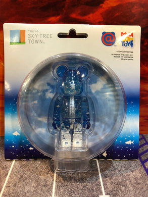 Medicom Toy Be @ Rbrick Tokyo Solamachi Sky Tree Clear Blue 100% Japan Limited