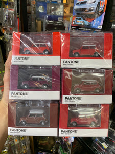 Tiny City Diecast - Set of 6 Mini Cooper X Pantone Set (Red) ~ Free Shipping Worldwide !!!