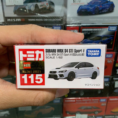 Takara Tomy Tomica 1/62 No.115 Subaru WRX S4 STI Sport # (White) (First Edition Special Colour) (2021 May New Model)