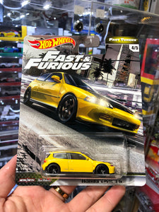 Hot Wheels 2020 FAST & FURIOUS  CAR CULTURE ( HK Card ) -Honda Civic EG