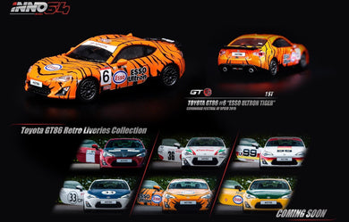 Preorder ~ Inno64 Toyota GT86 Retro Liveries Collection #1 - Toyota GT86 #6