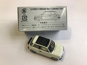 Tomytec Tomica Limited Vintage Neo LV-N107a Nissan Be-1 Canvas Top (White)