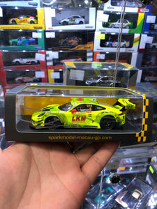 Spark 1/43  #911 Porsche 911 GT3 R Manthey Racing FIA GT World Cup Macau 2018 ( Free Shipping Worldwide )