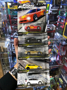 Hot Wheels 2020 FAST & FURIOUS  CAR CULTURE Set of 5 ( HK Card ) -Mazda RX-7 FD Nissan Silvia (S15) Nissan 240SX (S14) Honda Civic EG 2016 SUBARU WRX STI