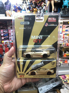 MiniGT Libertywalk LB Works Nissan GT-R Satin Gold (USA Exclusive)