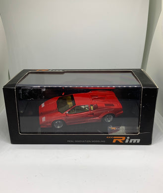RIM Real Innovation Modelling 1:43 Lamborghini Countach 25th Anniversary (1988) (Red) (Limited to 999pcs) #KY