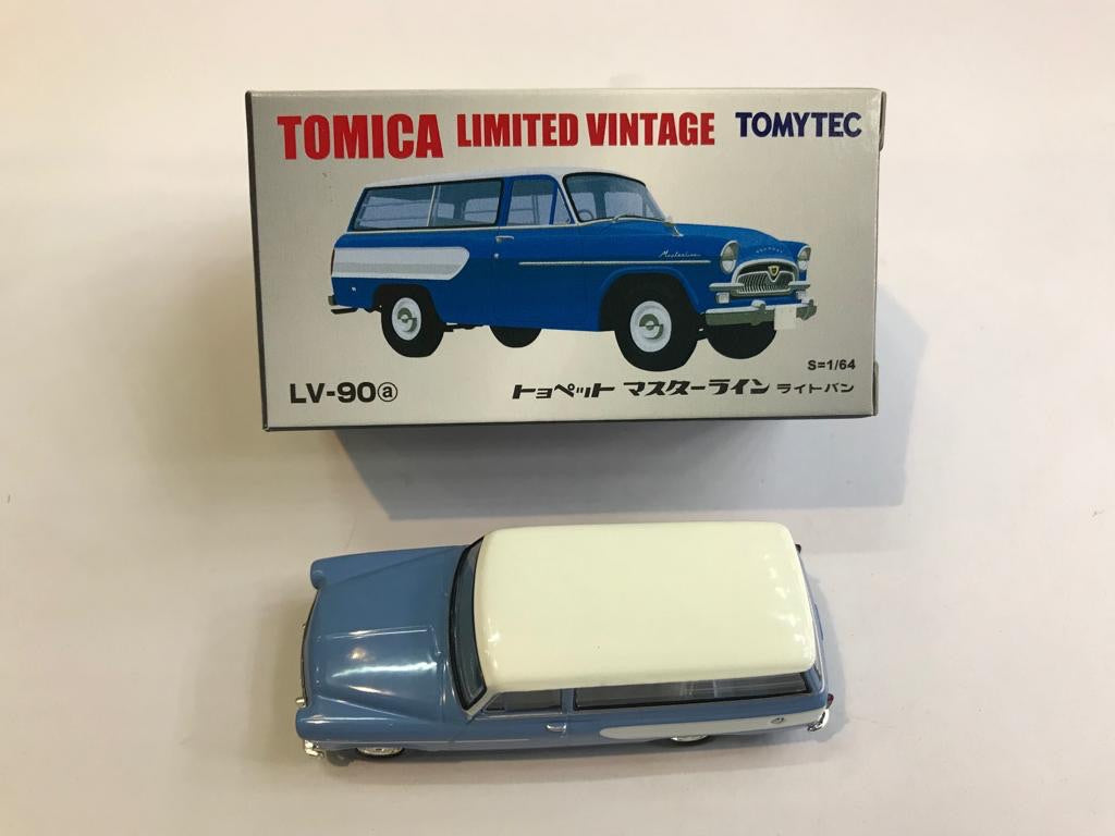 Tomytec Tomica Limited Vintage LV-90a Toyopet Masterline (Blue and White)