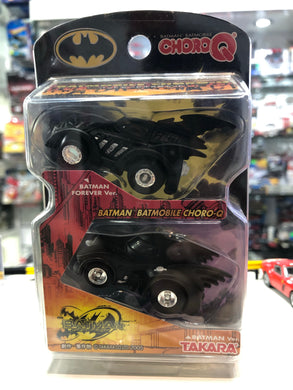 Choro Q Batmobile 2 cars set Batman forever ver & Batman ver AT