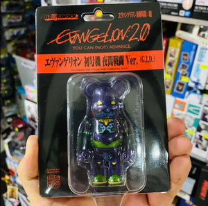 Medicom Bearbrick 100% Evangelion 2.0 You Are (Not) Alone EVA Test Type-01 Night Combat ver. G.I.D