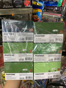 Tiny City Diecast - Set of 6 Mini Cooper X Pantone Set (Green) ~ Free Shipping Worldwide !!!