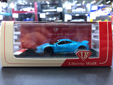 LB Liberty Walk Timothy & Pierre 1/64 Ferrari 458 Light Blue Resin Limited 999 pcs