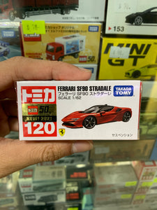 Takara Tomy Tomica 1/62 No.120 Ferrari SF90 Stradale (Red) (2021 April New Model)