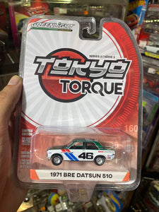Greenlight 1/64 1971 BRE Datsun 510 Green Machine Chase #S99
