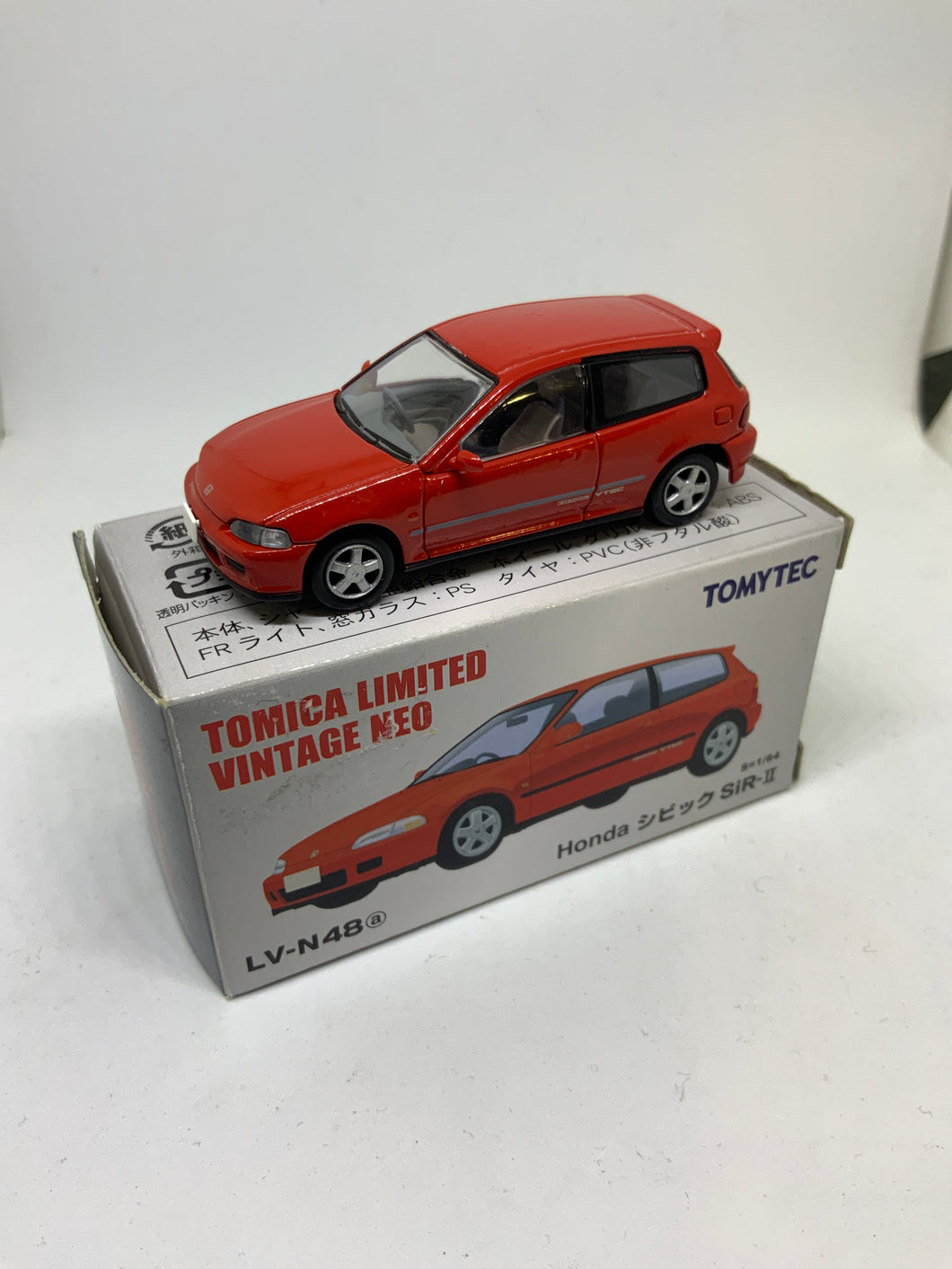TOMICA Limited Vintage Neo TOMYTEC HONDA CIVIC Eg6 SiR-II Red