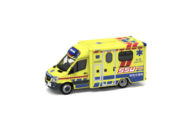 Preorder - Tiny City 158 Diecast Model Car-Pingzhi Sprinter FL Fire Department Ambulance SSU (A459) - Release Date : Jan 2021