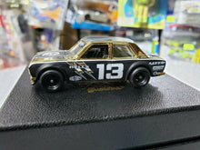 Load image into Gallery viewer, Hot Wheels Custom Datsun 510 Bluebird Hells Dept 18 Karat Rolled Gold Plated