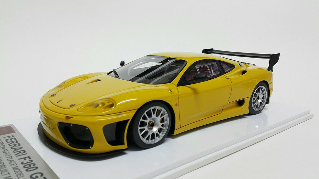 1/18 APM Ferrari F360 GTC Yellow. Resin