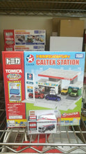Load image into Gallery viewer, Tomica Caltex Oil Station & Techron UD Truck Quon Tank Lorry Hong Kong Caltex Station Exclusive ( Free Shipping Worldwide !!! )