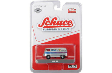 Schuco 1/64 Volkswagen T1 bus Silver Martini Livery racing Mijo Exclusive
