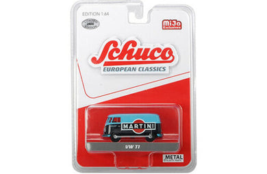 Schuco 1/64 Volkswagen T1 bus Blue Martini livery racing Mijo Exclusive