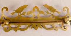 Brass and Copper Decorated Towel Bar