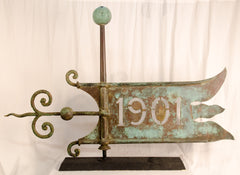 Copper Bannerette Weathervane, 1901