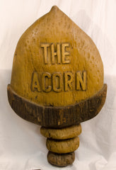 Carved Wooden Acorn Sign