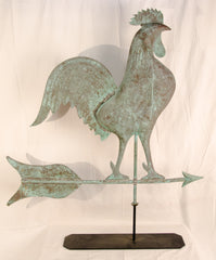 Copper Swell-Body Rooster Weathervane