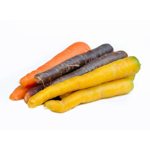multicoloured carrots