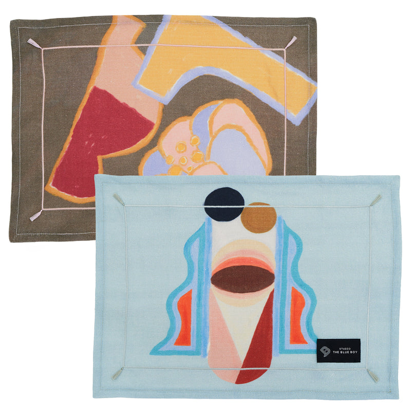 Classic monsters - 100% LINEN PLACEMAT SET OF 2