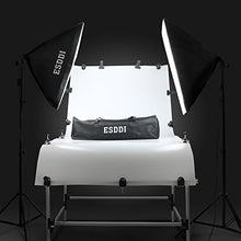 "ESDDI 20""X28"" Softbox Photography Lighting Kit 800W Continuous Lighting System Photo Studio Equipment Photo Model Portraits Shooting Box 2pcs E27 Video Lighting Bulb"