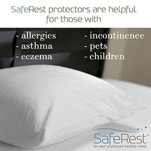 SafeRest Premium Hypoallergenic Bed Bug Proof Zippered Waterproof Pillow Protector (1) Standard Size