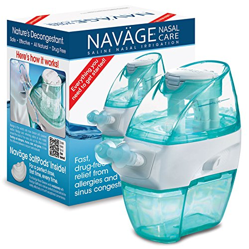 Navage Nasal Irrigation Basic Bundle: Navage Nose Cleaner and 18 SaltPods