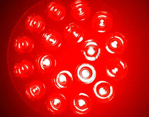 RubyLux All Red LED Bulb - Size Large – 2nd Generation -  220V for Europe