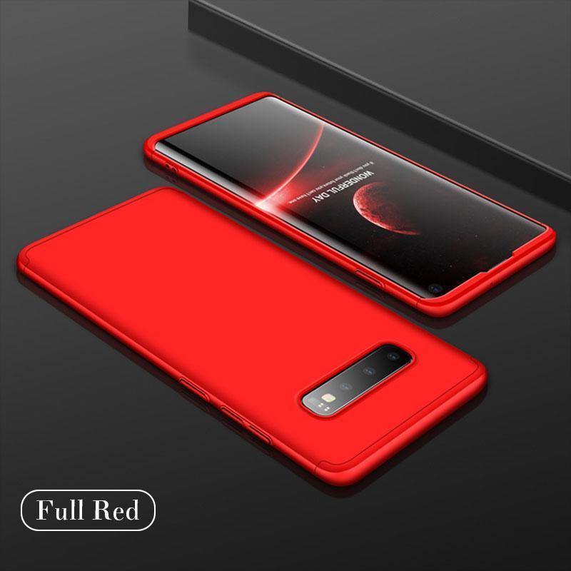 Creative Stitching Three-in-One Matte Phone Protective Case For Samsung S10 S10 Plus S10Lite