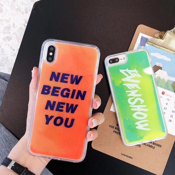 Quicksand Phone Case With Fluorescence For iPhone X/XS/XR/XS Max/7 Plus/8 Plus