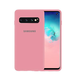 Luxury Original Official Liquid Silicone LOGO Case For Samsung S10 S10 PLUS S10E