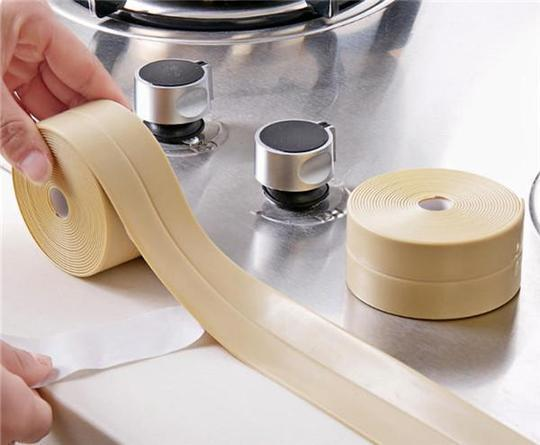 3.8m Kitchen Bathroom Self Adhesive Wall Seal Ring Tape Waterproof & Mold Proof Edge Trim Tape Accessory