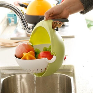 Double Layer Drainer Colander for Pasta and Spaghetti Washing Fruit Vegetable Basket with Handle Salad Drainage