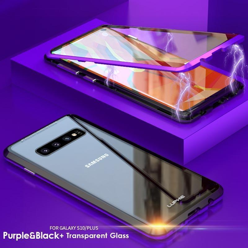 Upgraded Two Side Tempered Glass Magnetic Adsorption Phone Case for Samsung S10 S10 Plus S10 E