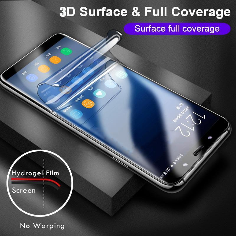 3D Curved Full Coverage Hydrogel Film Screen Protector For Samsung S9 S9 Plus S8 S8 Plus Note 9 Note 8