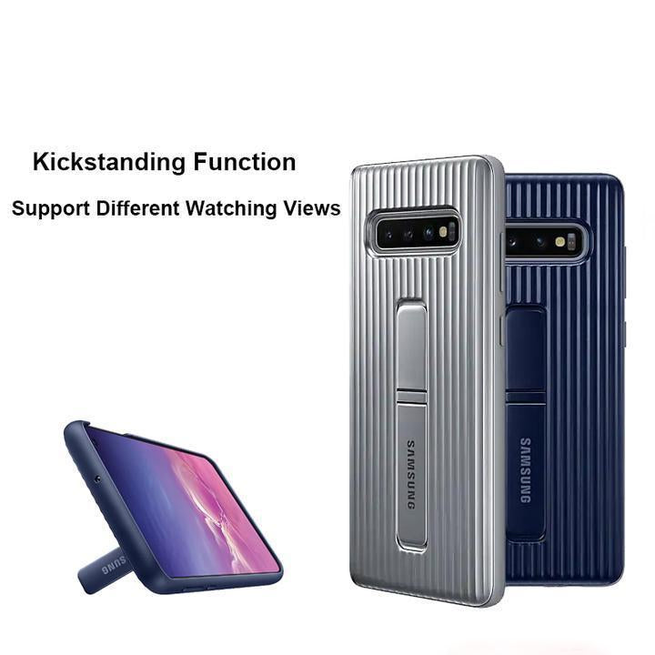 Original Samsung Suitcase-Type Hard PC Line Design+ Soft TPU Bumper Phone Case For S10 / S10 Plus