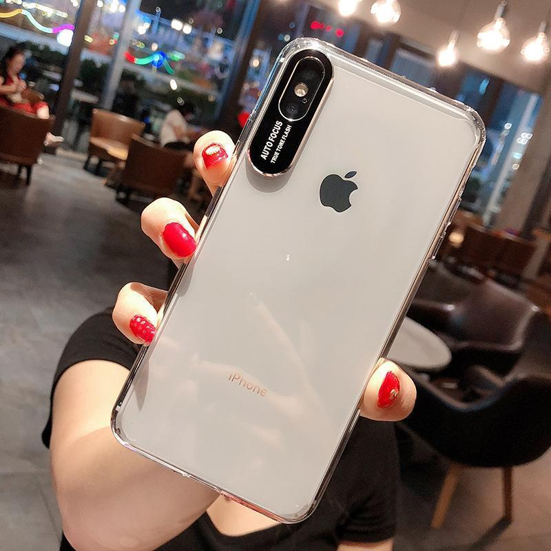 Transparent  Drop Falling Protection Camera Protection Soft Silicone Protective Case for iPhone XS Max XR XS X 7 Plus 8 Plus 7 8 6sPlus 6Plus 6s