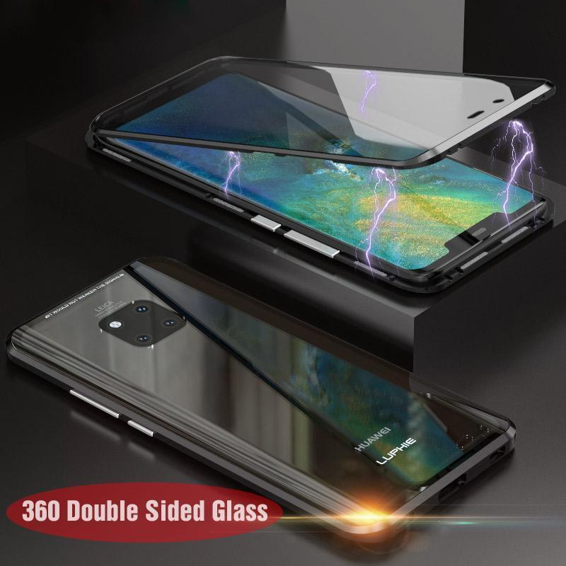 Upgraded Two Side Tempered Glass Magnetic Adsorption Phone Case for Huawei Mate 20 Mate 20Pro P20 P20Pro P30 P30Pro P30Lite