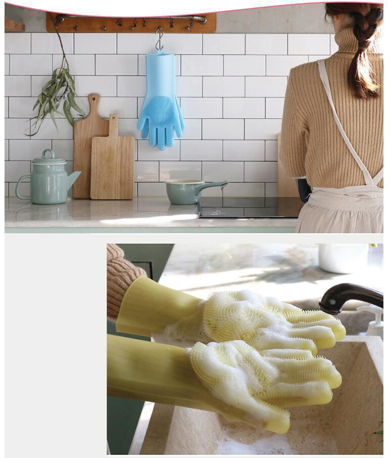 MAGIC DISHWASHING GLOVES(1 pair)