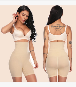 High Waisted Seamless Body Shaper Control Shorts