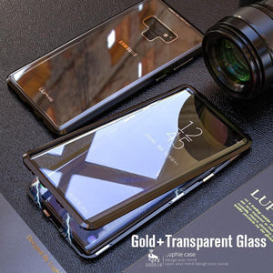 Upgraded Two Side Tempered Glass Magnetic Adsorption Phone Case for Samsung Note 9