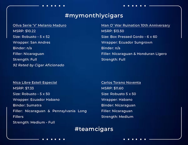My Monthly Cigars - August 2019 Box