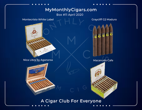 My Monthly Cigars - April 2020 Box
