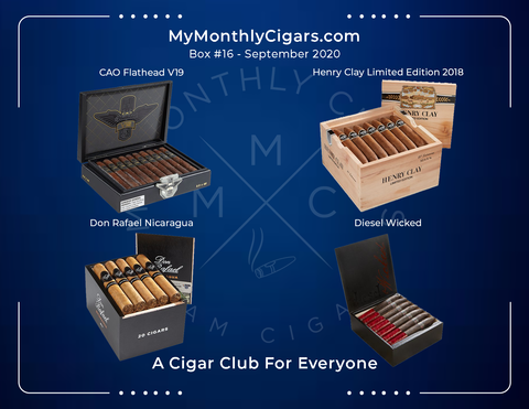 My Monthly Cigars - Box #16 September 2020